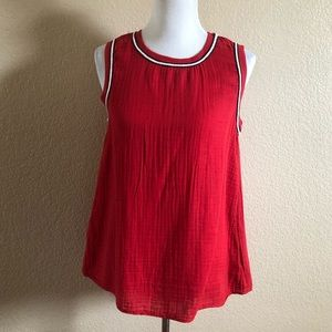 Micheal Stars Anthropologie Gauze Red Top S